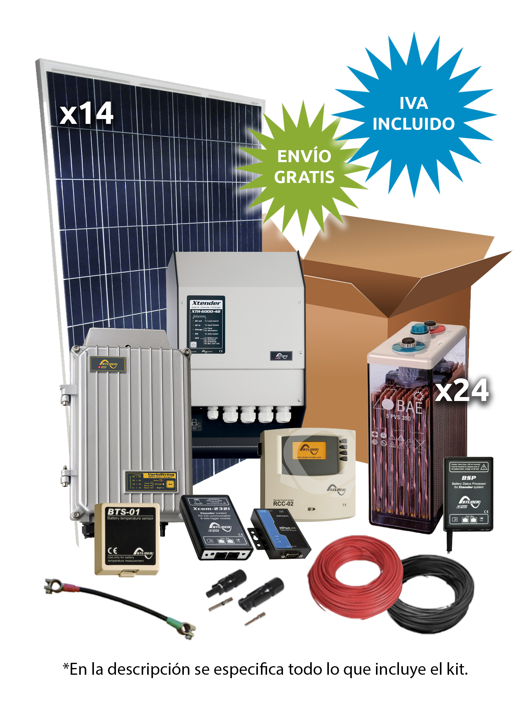 Kit Solar Aislada 3600W