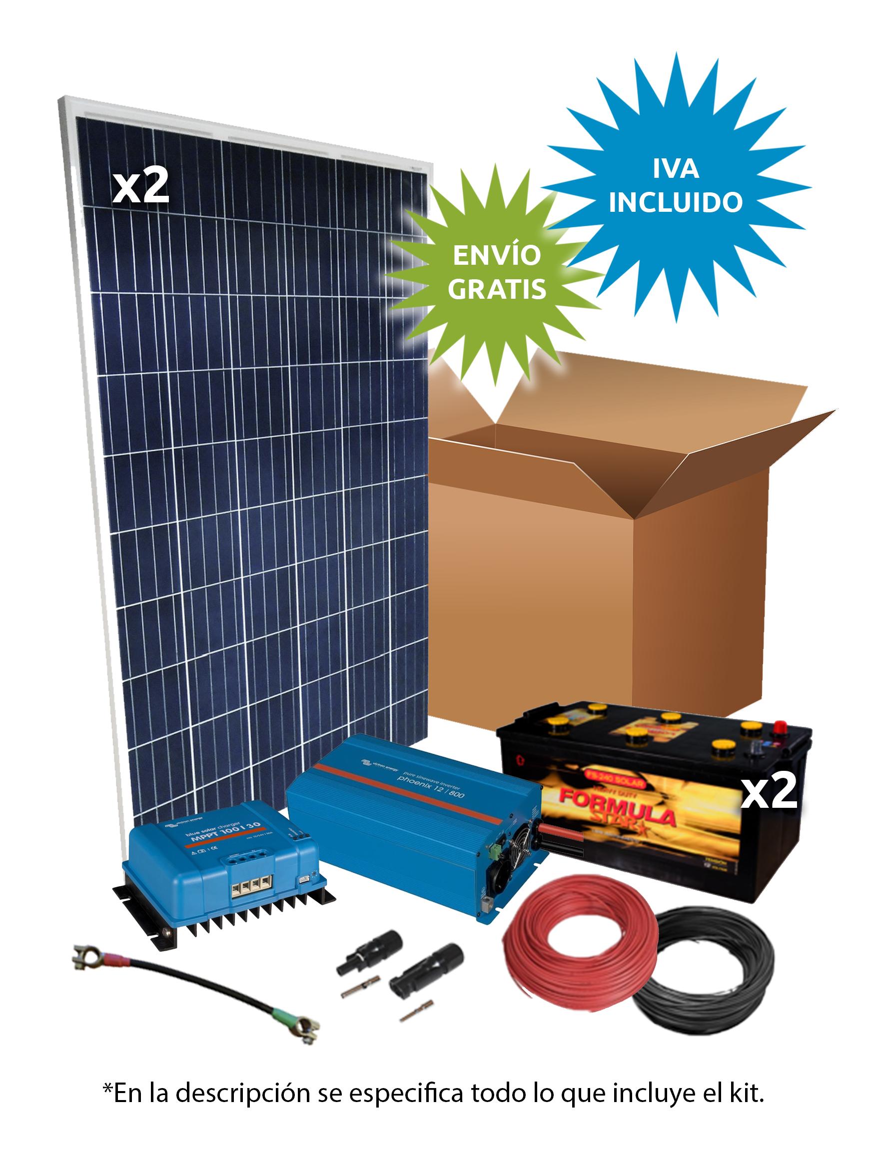 Kit Solar Aislada 500W