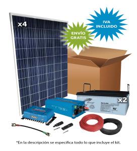 Kit Solar Aislada 1000W 24V 3000Wh/día