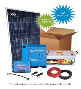 Kit Solar Aislada 1500W 48V 4500Wh/día