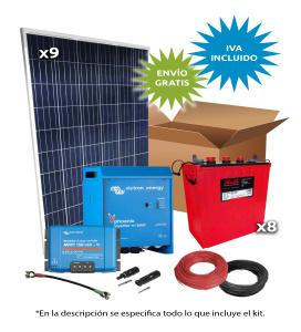 Kit Solar Aislada 3000W 48V 6800Wh/día
