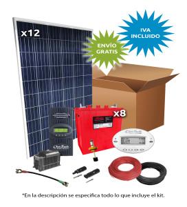 Kit Solar Aislada 3000W 48V 9000Wh/día