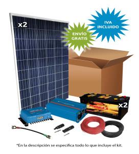 Kit Solar Aislada 500W 24V 1500Wh/día