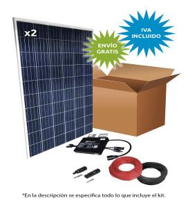 Kit Solar Autoconsumo directo 2200Wh/día