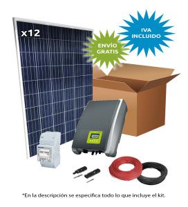 Kit Solar Autoconsumo Directo 13300Wh/día